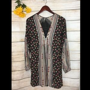 🍂Free People Floral Peasant Boho Dress Tunic
