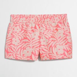 J. Crew jacquard slip on boardwalk shorts in pink