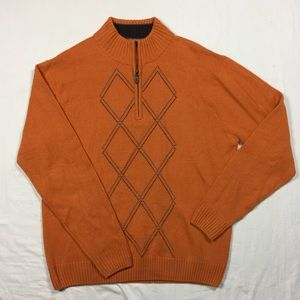 Tom James cashmere 1/4 zip sweater