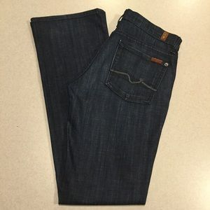 7 For All Mankind Jeans 27X33.5 Lexie Boot Crystal