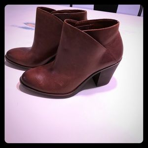 Brand new brown leather booties