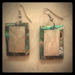 Gorgeous goddess abalone mosaic rectangles