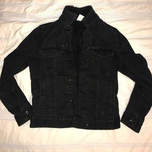 Black Denim Jacket w Inner Fleece