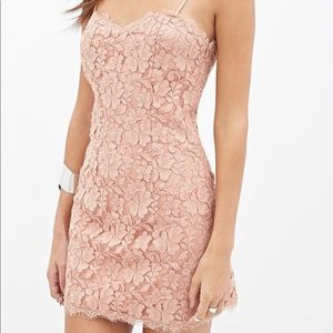 Nude lace cami dress