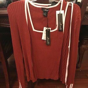NWT  WILLI SMITH BRAND 2-Piece sweater set Medium