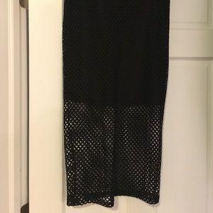 NWT Mesh body con midi skirt