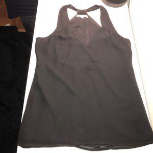 Black drapey tank top