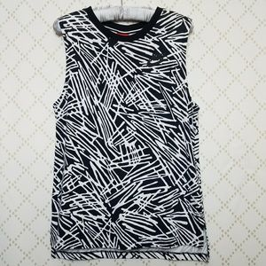 NEW NIKE Graphic Printed High Low Cotton Tank