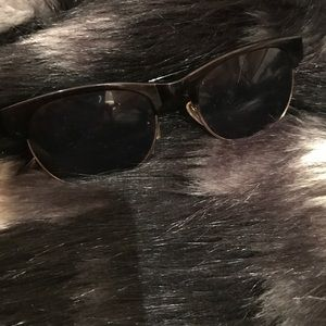 Black Sunglasses with Gold Trimming