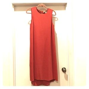Chic Dusty Rose sleeveless Midi Dress  size M