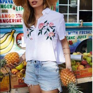 """Rails """"Gretta"""" Embroidered Shirt"""