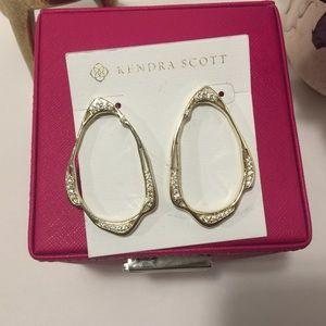 Kendra Scott Livi earrings - Gold tone with cz