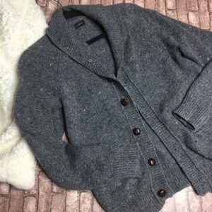 J Crew Wool Knit Button Down Sweater