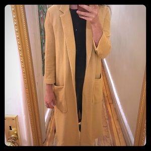 Zara mustard yellow long cardigan