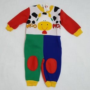 Other - NWT Vintage Style Cow Sleeper - 12 Months