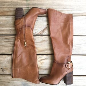 Vince Camuto Sidney Brown Leather Riding Boot