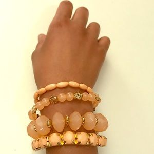 ✨BRAND NEW✨ coral beaded bracelets