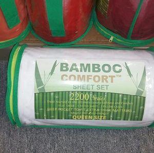 2200 TC Bamboo Comfort 4pcs Bed Sheet Set