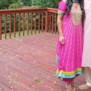 Hot pink Pakistani/Indian outfit