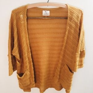 UO Pins & Needles Vertical Pointelle Open Cardigan