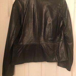 Ann Taylor black leather jacket