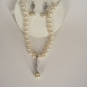 Charter Club Faux Pearl Set With Removable Charm