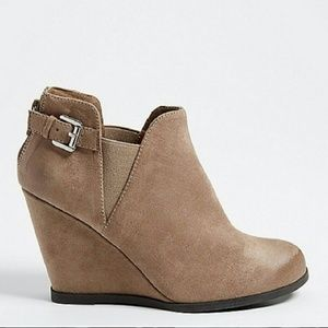 faux suede booties