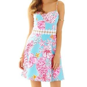 LILLY PULITZER LENORE LACE CUT-OUT DRESS