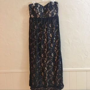 Size 18 Torrid Lace Strapless Maxi Dress