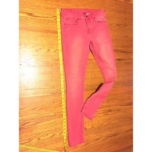 Divided By H&M Pink Distressed Acid Wash Jeans