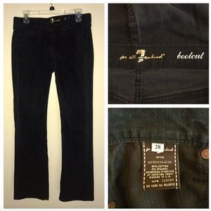 7 For All Mankind Black Wash Bootcut Jeans Sz 28