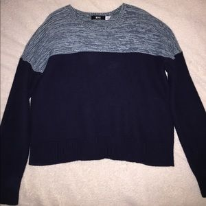 BDG Blue and Navy Knit Sweater