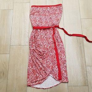 Midi Strapless Dress