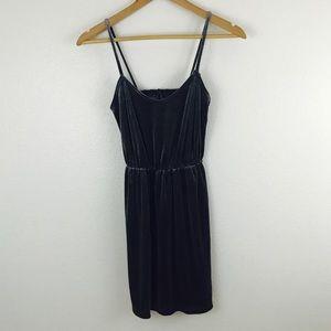 Urban Outfitters Dark Gray Velvet Mini Party Dress