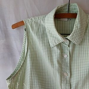 Tops - Gingham Button Down