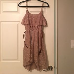 Flowy tan dress from Deb