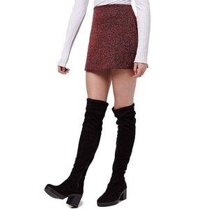 Top Shop Herringbone Skirt