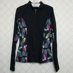 NEW JESSICA SIMPSON The Warm Up Pineapple Jacket