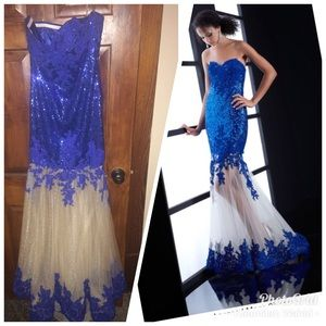 Blue pageant/ prom dress