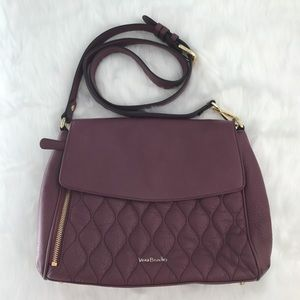 Vera Bradley Cara Convertible Crossbody Purse Wine