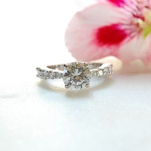 "Round Cut CZ ""Engagement"" Ring"