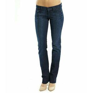 7FAM Straight Leg Jeans Dark Wash 30