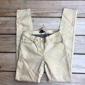 H&M Metallic Gold Skinny Jeans