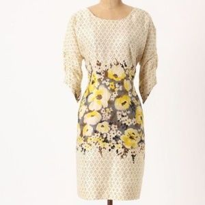 Meadow Rue Peppered Plena Dress Polka Dot Floral