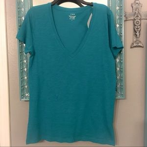 NWT J. Crew Featherweight V-neck T-shirt