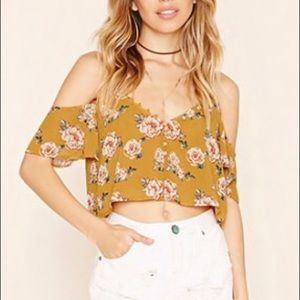Floral off the Shoulder crop too