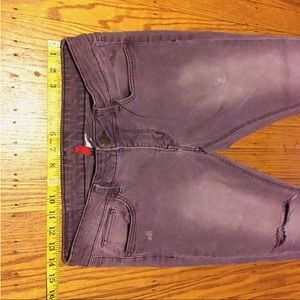 Divided By H&M Purple Distressed Skinny Jeans