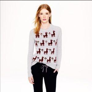 JCrew Llama Sweater