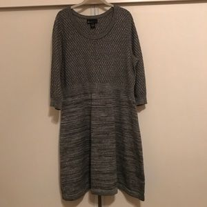 Silver sweater dress from Lane Bryant