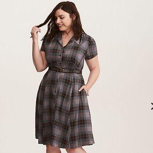 🆕 Torrid Outlander Mackenzie Tartan Shirt Dress